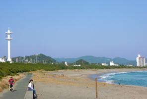 千倉南海岸のサーフィンの風景
