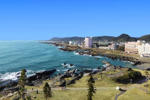 南房総市白浜町野島崎灯台からの風景