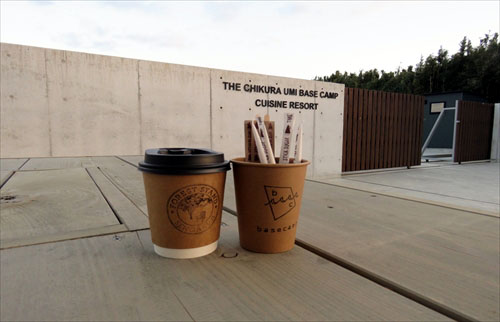 カフェのコーヒーの画像