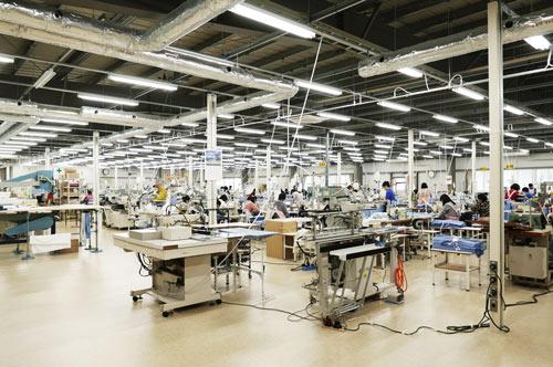 裁縫工場の画像