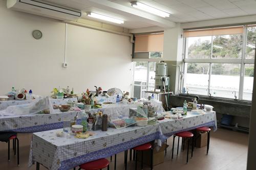 寮の調理場の画像