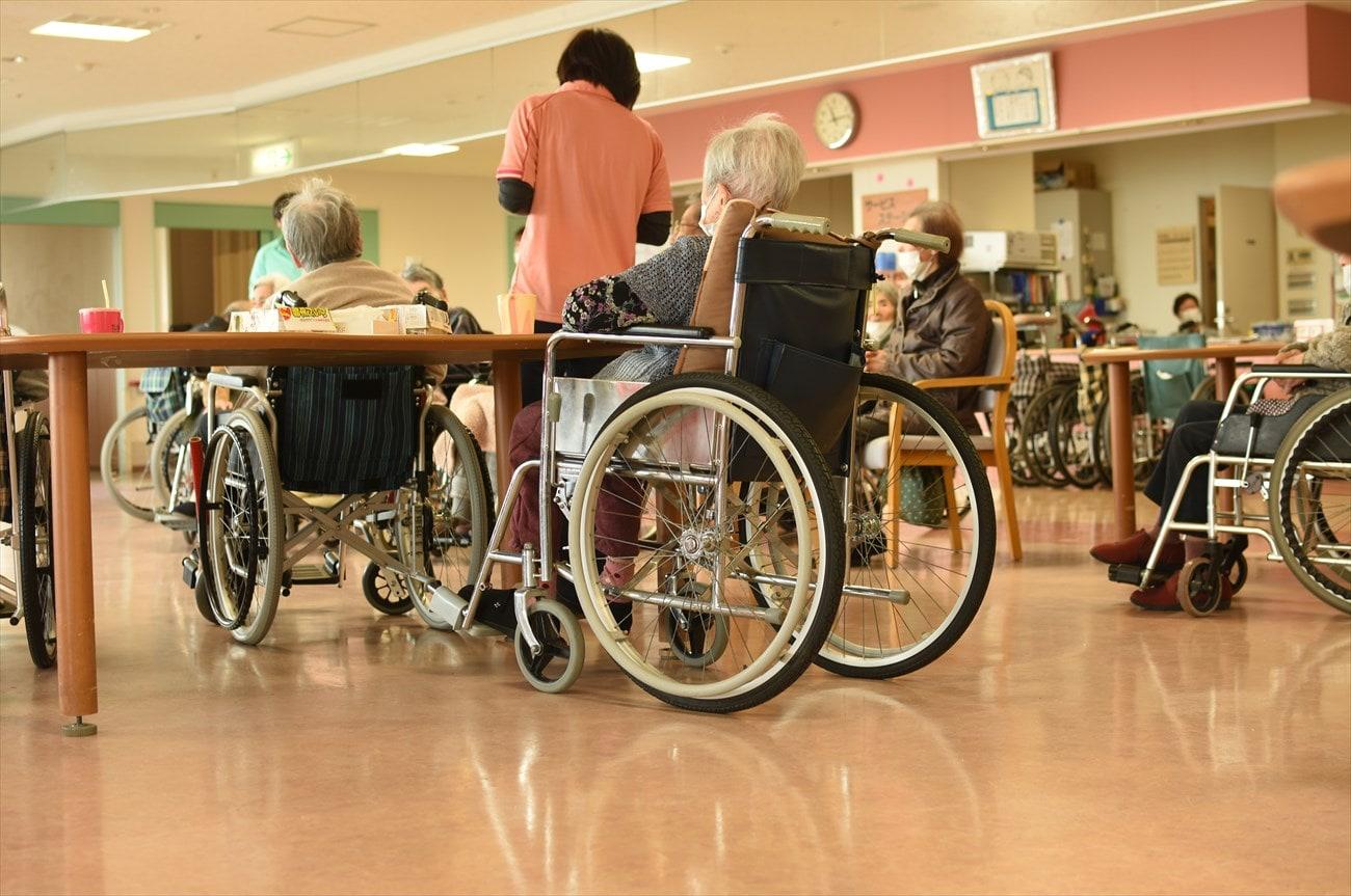 車椅子を使ったリハビリの様子