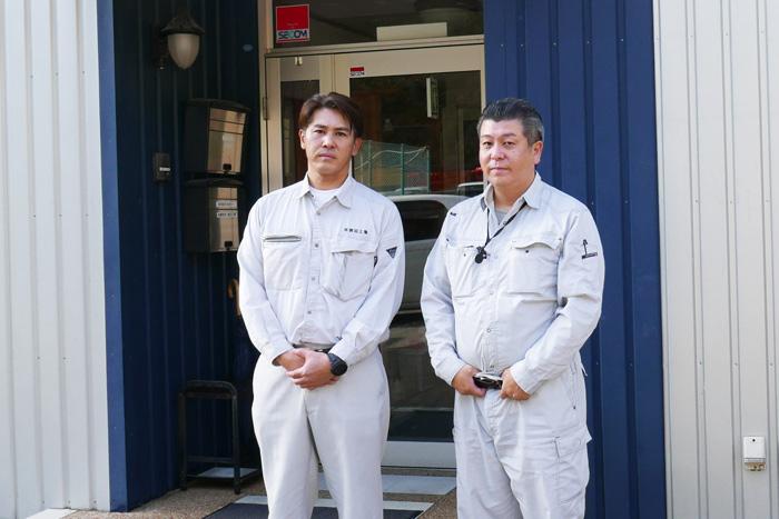常務取締役 小滝 修三さん 代表取締役 小滝 大介さん